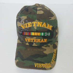 Vietnam War Veteran Ball Cap Hat Tiger Stripe Camo